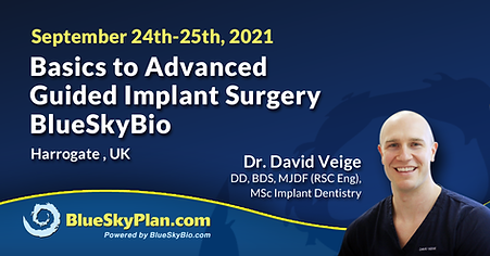 Blue Sky Plan Live Course -Basics to Advanced Guided Implant Surgery