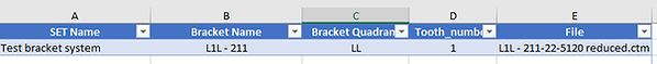 add brackets excel example