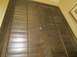 Stained Shutters intall