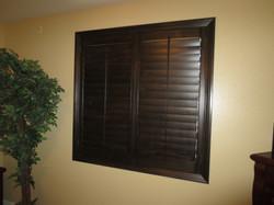 Wood window shutters