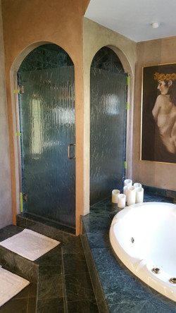 2 Piece Rain Glass Shower