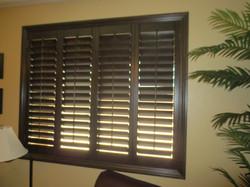 Wood shutter install