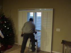 Door shutter installation