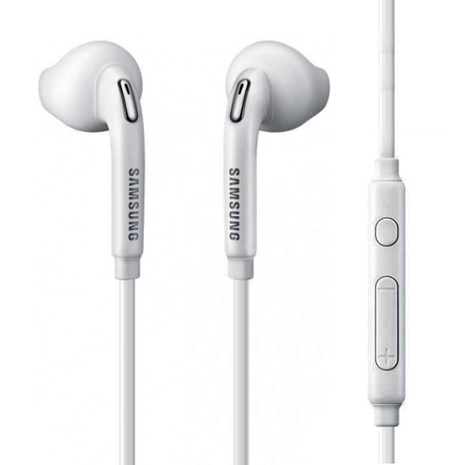 Official Samsung Hybrid In-Ear Earphones with In-Line Controls - White