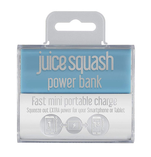 Juice Squash Powerbank Blue 2,800mAh