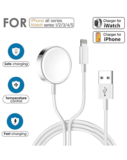 Apple 2 in 1 Apple Watch and lightning charging cable