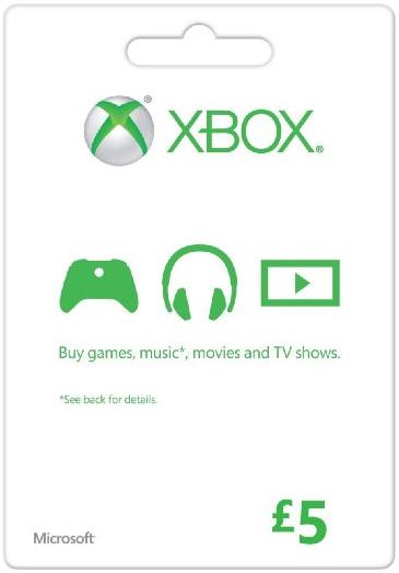 Zoom   Microsoft Gift Card - £5 (Xbox One/360)