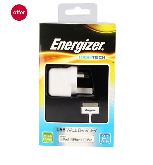 Energizer High Tech Mains Charger with USB for iPhone 4/ iPod/ iPad Read more at