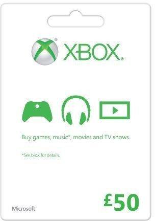 Zoom   Microsoft Gift Card - £50 (Xbox One/360)