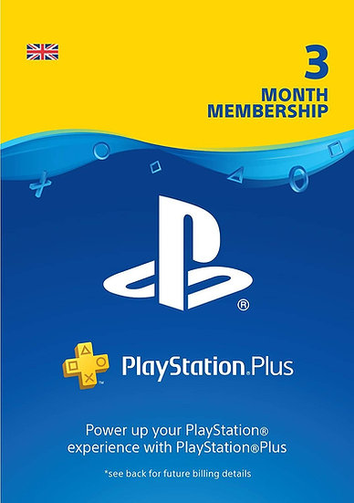 PlayStation Plus (PS+) - 3 Month Subscription (UK)