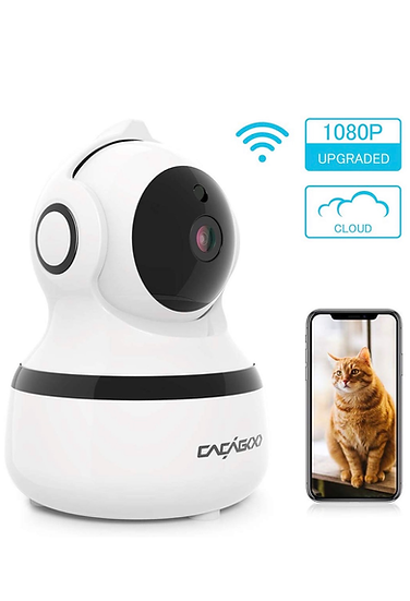CACAGOO Security Camera, Baby Monitor WIFI IP Camera 1080P FHD Indoor Wireless P