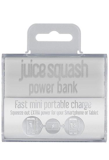 Juice🥤2800 mAh Squash Fast Charge Portable Power Bank, White
