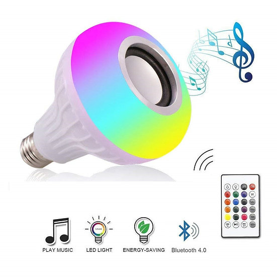 DZLST Bluetooth Speaker Smart LED Bulb E27 RGB Light 12W Music Playing Dimmable