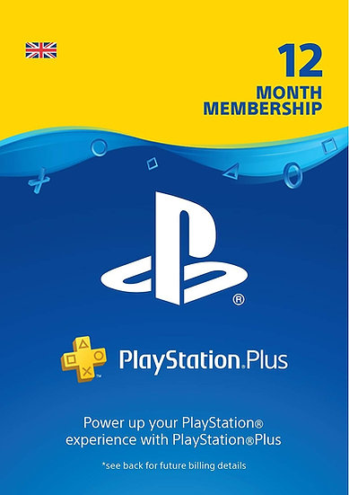 PlayStation Plus (PS+) - 12 Month Subscription (UK)