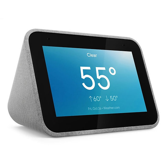 LENOVO Smart Clock with Google Assistant -Grey