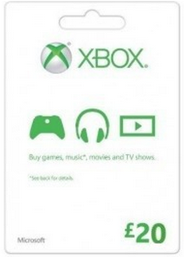 Zoom   Microsoft Gift Card - £20 (Xbox One/360)
