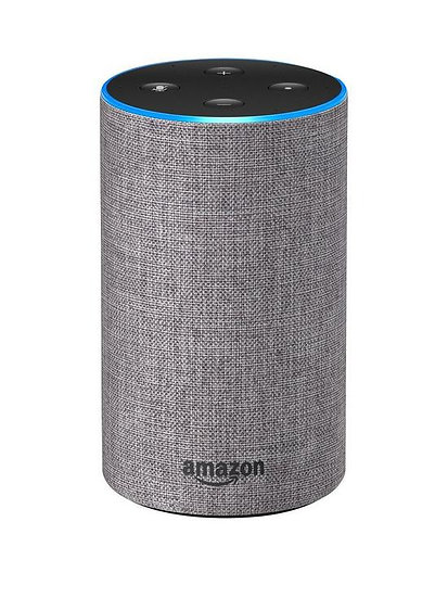 Amazon Echo (2nd Gen) - Smart speaker with Alexa - Heather Grey Fabric