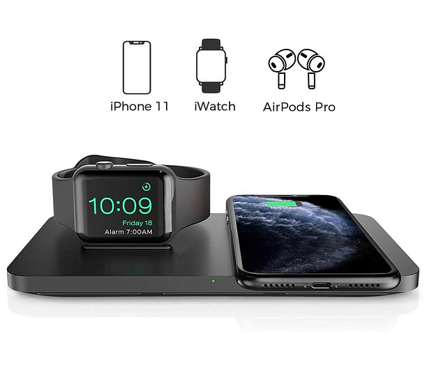 Seneo Dual 2 in 1 Wireless Charger, Apple Watch Charging Pad.