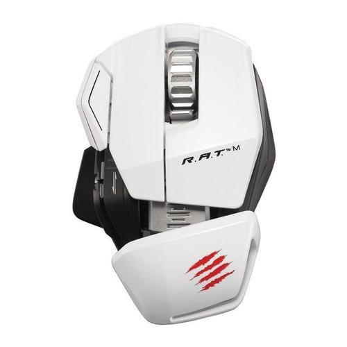 Mad Catz R.A.T.M Wireless Mobile Gaming Mouse (White)