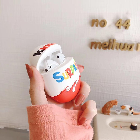 Luxury Cute Children's Trolly Chocolate Egg Food Candy Case for AirPods