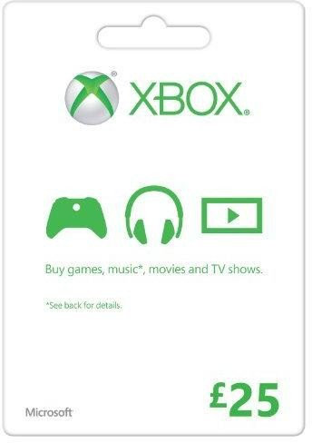 Zoom   Microsoft Gift Card - £25 (Xbox One/360)