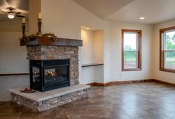 Three-way Fireplace