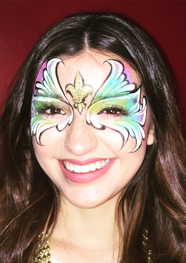 Mardi gras face painting