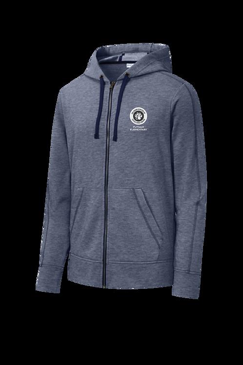 Sport-Tek Tri-Blend Wicking Fleece Full-Zip Hooded Jacket
