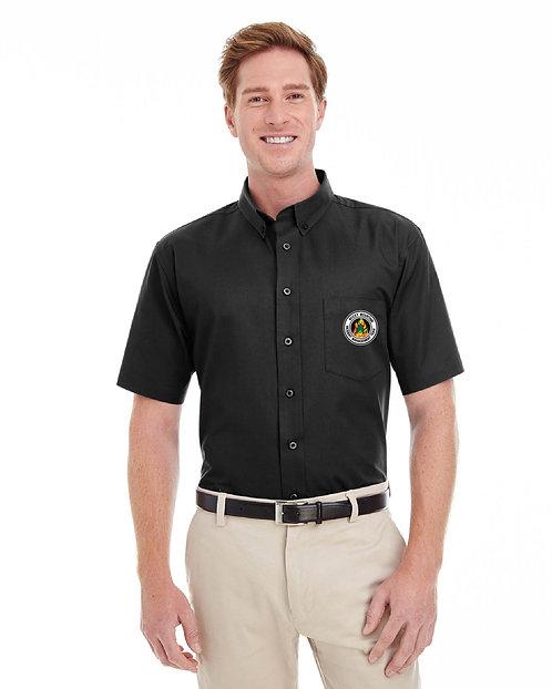 Harriton Short-Sleeve Cotton Twill Shirt