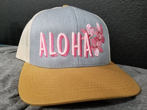 Aloha Plumerias Trucker Snapback