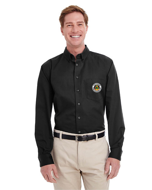 Harriton Long-Sleeve Cotton Twill Shirt