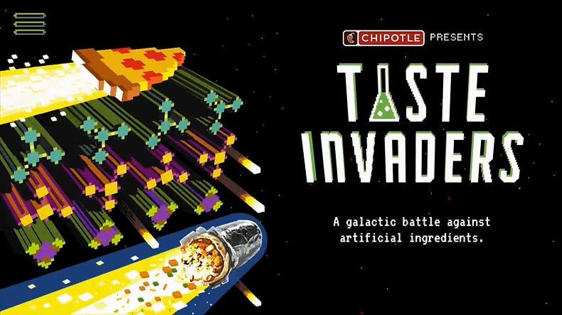Chipotle Taste Invaders gameplay