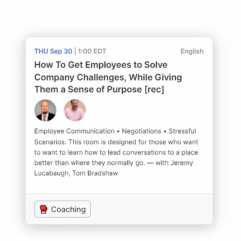 9/30 @1pm EST: How To Get Employees to Solve Company Challenges, While Giving Them a Sense of Purpose