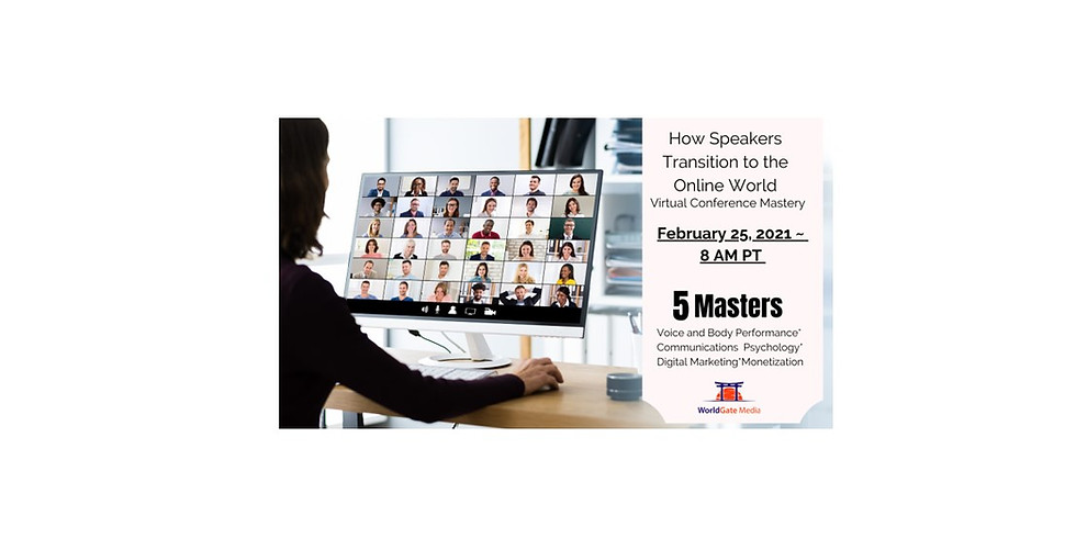 PAST EVENT - How Speakers Transition to the Online World