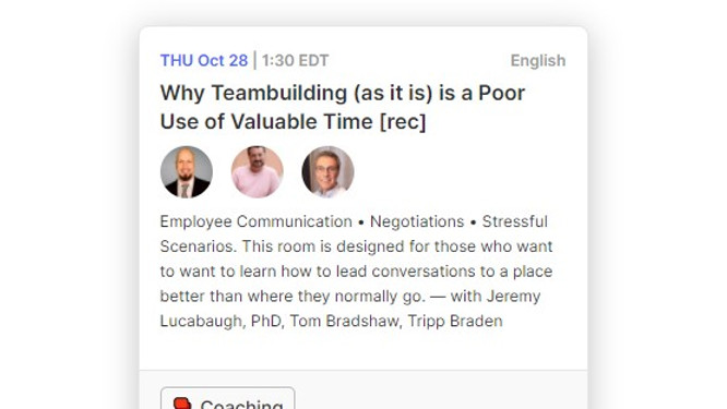 Why Teambuilding (as it is) is a Poor Use of Valuable Time
