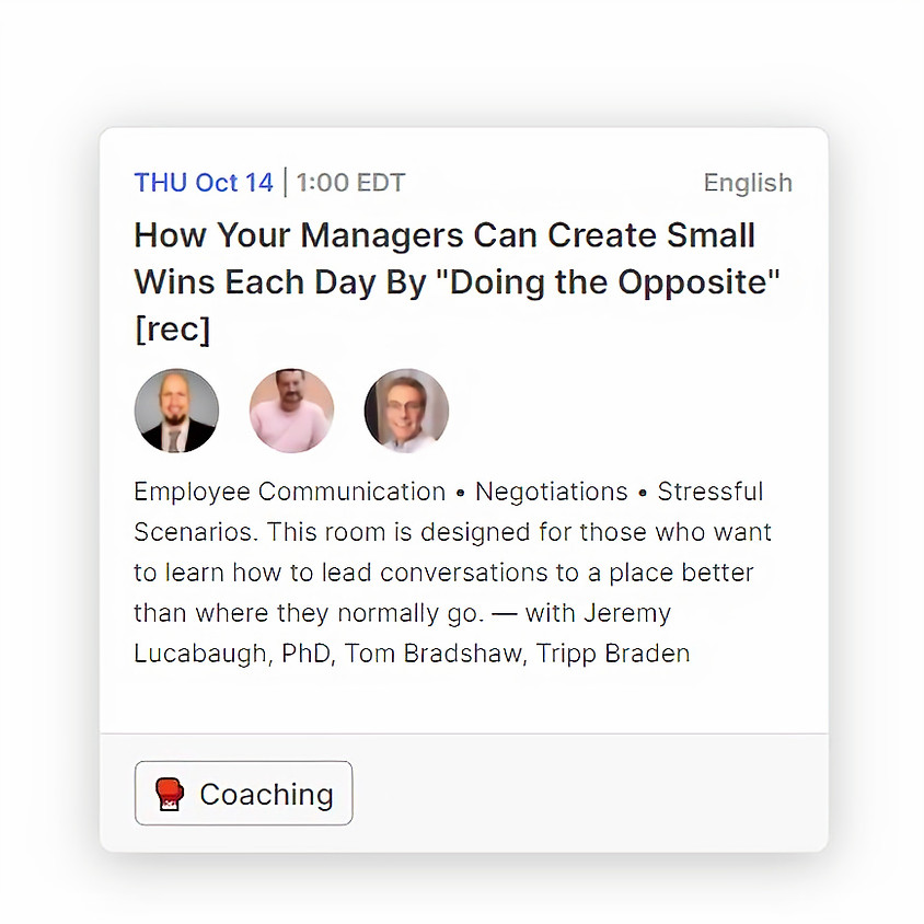 """How Your Managers Can Create Small Wins Each Day By """"Doing the Opposite"""""""