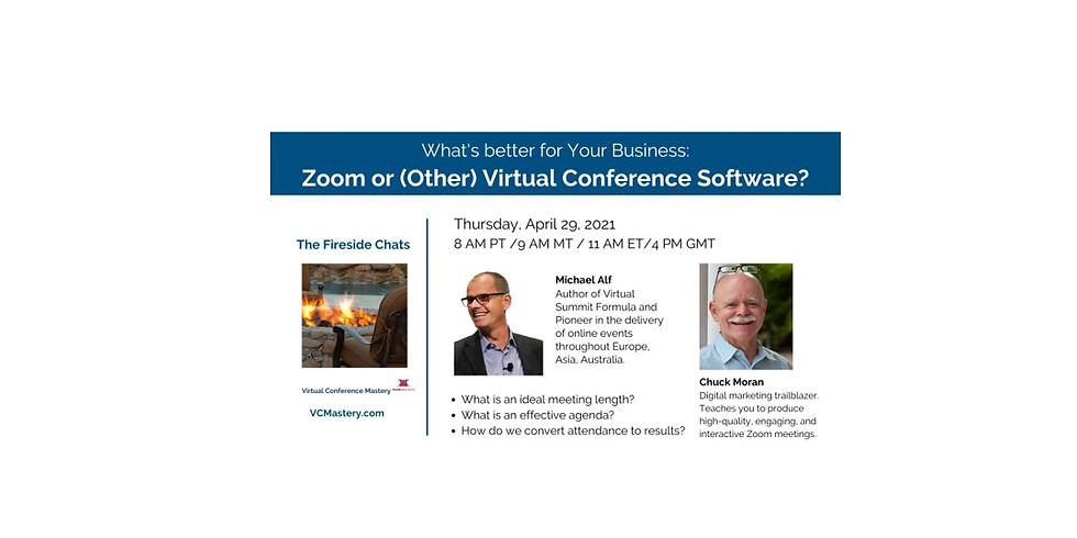 PAST EVENT: What's Better for Your Business: Zoom or (Other) Virtual Conference Software?