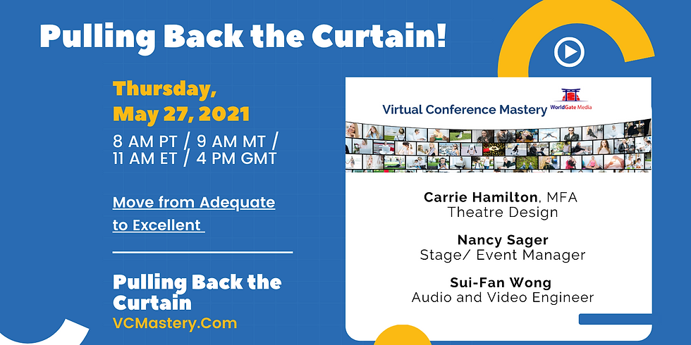 PAST EVENT: How to Look & Sound Good Online - Camera, Mic, Wardrobe & Set Design!