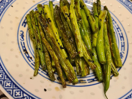 Sesame fried string beans