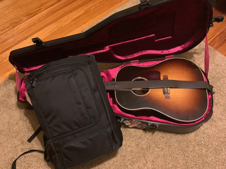 25 days with a guitar and a carry-on.