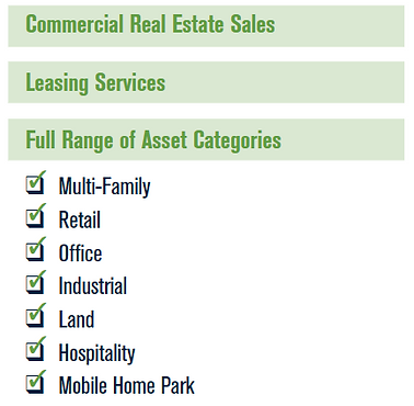 Commercial Real Estate Sales and Leasing Services