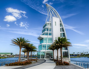 Exploration tower in Port Canaveral on Florida's Space Coast