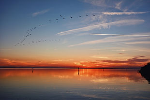 Sunset over the Indian River Lagoon, Brevard County, Florida