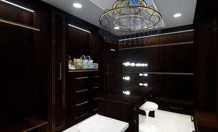 The Onyx Estate | Walk in Wardrobe
