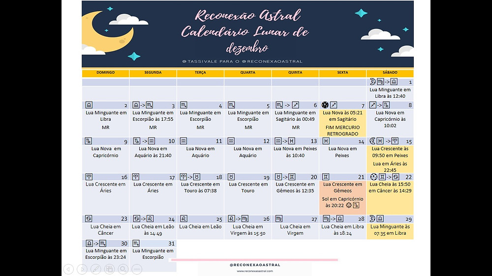 Calendário Lunar Dezembro @tassivale Tassiana Vale D' Elboux Reconexão Astral Tassi Vale