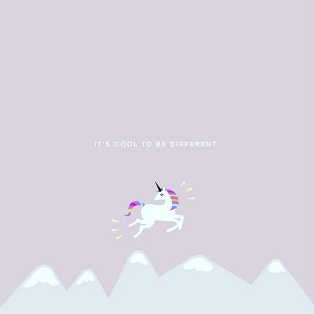 it's cool to be different unicorn unicornio é bom ser diferente @tassivale Tassiana Vale D' Elboux Tassi Vale