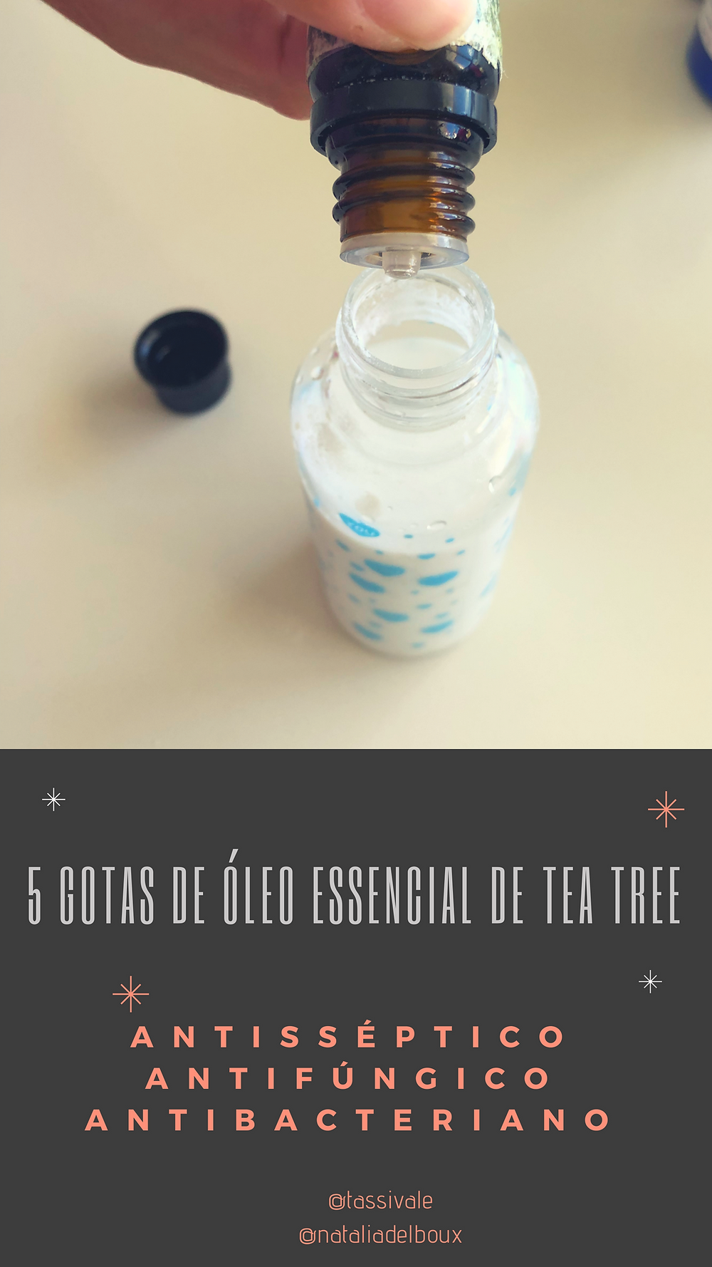 @tassivale Tassiana Vale D' Elboux Tassi Vale desodorante natural óleo essencial tea tree beneficios