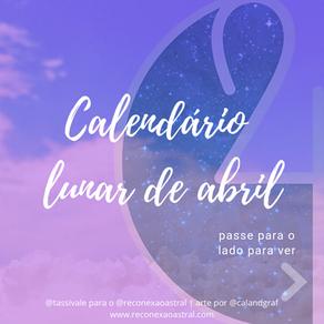 Calendário Lunar Abril