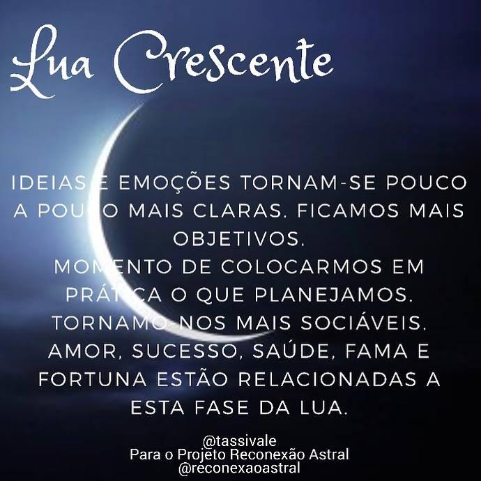 lua crescente crescent moon moon phases fases da lua Tassiana Vale D' Elboux Rconexão Astral @tassivale Tassi Vale