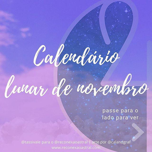 Calendário Lunar novembro @tassivale Tassiana Vale D' Elboux Reconexão Astral Tassi Vale